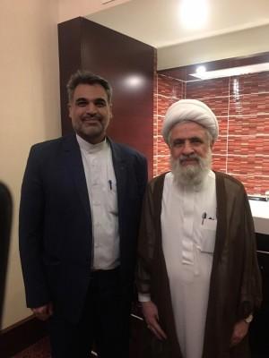 دیدار مدیرمسئول نشریه صدای کورنگ با معاون دبیرکل حزب الله لبنان