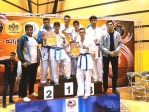 ۹ مدال، رهاورد کاراته کاهای کبودراهنگ در جام بین المللی ایران زمین